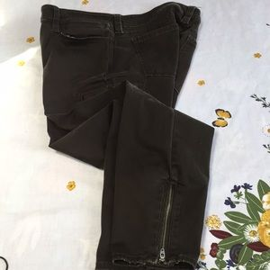 Army green Express jeans, size 12